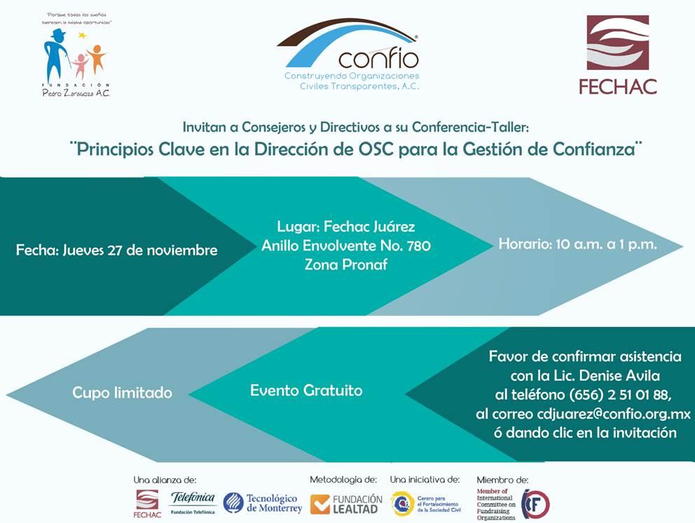 CONFIO invita a su Conferencia - Taller
