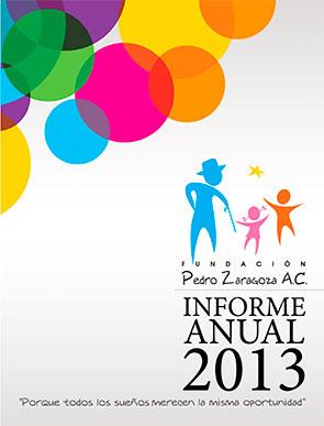 Informe de actividades 2013 - Fundación Pedro Zaragoza